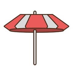 Umbrella parasol beach travel icon vector