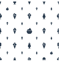 Vanilla icons pattern seamless white background vector