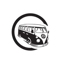 Vintage volkswagen vector