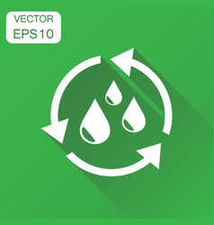 Water cycle icon business concept ecology vector