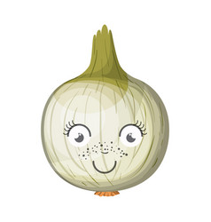 white background with animated onion vector image vector image