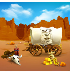 wild west vector image