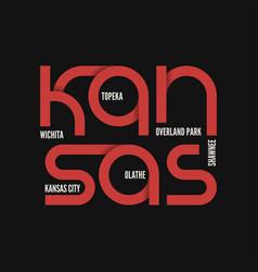 kansas state t-shirt and apparel design vector image
