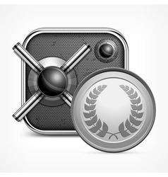 Safe icon coin vector image