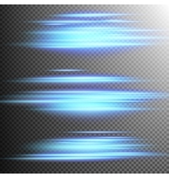 Blue lights lines effect Lens EPS 10 vector image vector image