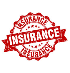 insurance stamp sign seal vector image vector image