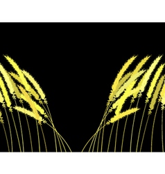 parting grass vector image vector image