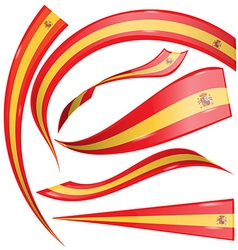 spain flag set vector image vector image