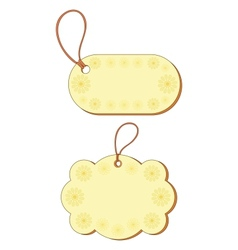 tags with floral pattern vector image vector image