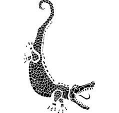 Woodcut Alligator vector image vector image