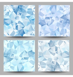 Backgrounds with abstract triangles vector image vector image