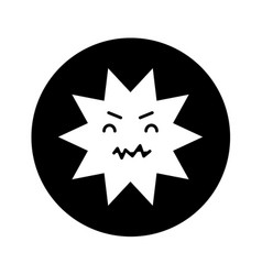 Caries dental comic character vector
