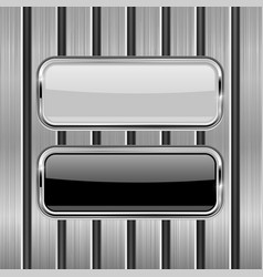 metal perforated background with white and black vector image vector image