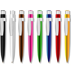 Souvenir Color Pens Set vector image