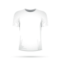 a white t-shirt vector image vector image