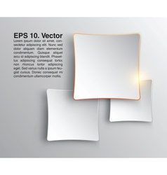 Abstract squares clean background Stylish design vector image vector image