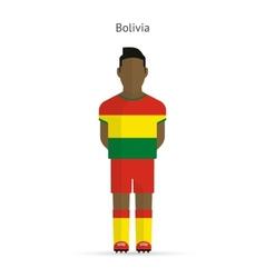 Bolivia football player Soccer uniform vector image vector image