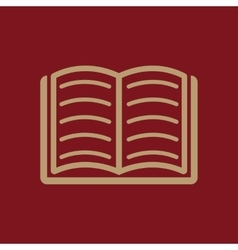 Book icon design library book symbol vector