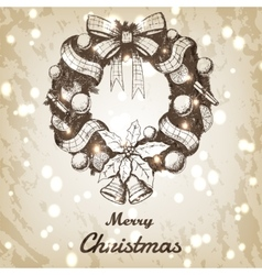 Christmas and New year hand drawn vector image vector image