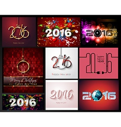 2016 happy new year background for your christmas vector image