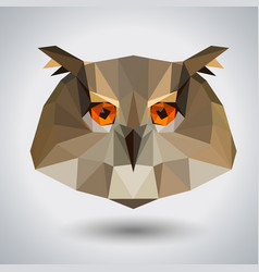 abstract polygonal tirangle animal owl hipster vector image