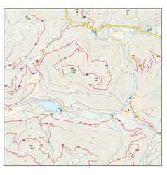 Abstract topographic hiking map vector