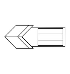 arrow arc target vector image