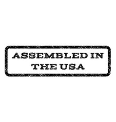 Assembled in the usa watermark stamp vector