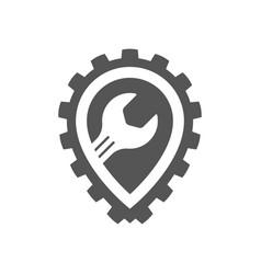 auto service point automobile repair service vector image