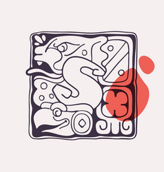 Aztec style letter s initial vector