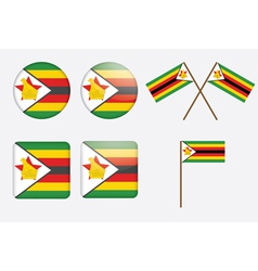 badges with flag of Zimbabwe vector image