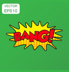 bang comic sound effects icon business concept vector image
