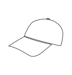 baseball cap black color path icon vector image