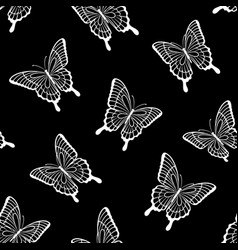 beautiful seamless background butterflies vector image