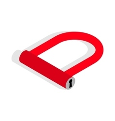 Bicycle Lock U shaped icon isometric 3d style vector