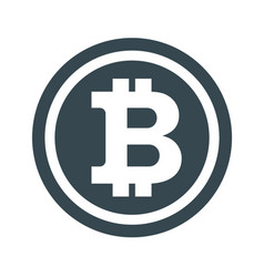 bitcon icon white vector image