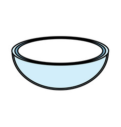Bowl to prepare delicious and healthy organic food vector