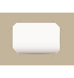 business card blank vector image vector image