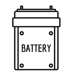 camera battery icon outline style vector image