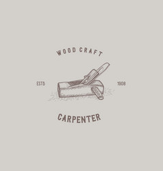 carpenter wood craft vector image