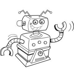 Cartoon smiling robot vector
