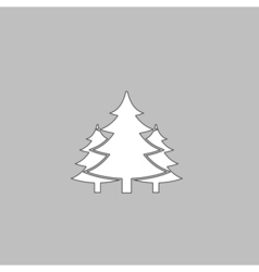 chritmas spruce computer symbol vector image