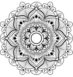 Circular pattern mandala for henna mehndi vector