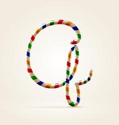Circus wire plastic abc vector