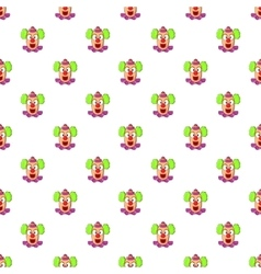 Clown face pattern cartoon style vector