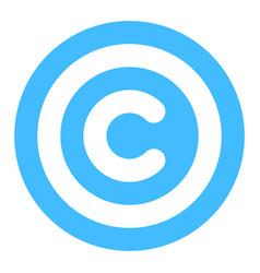 copyright sign symbol flat icon vector image