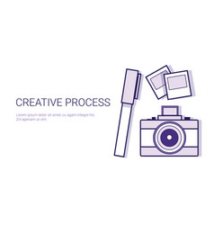 creative process business concept template web vector image