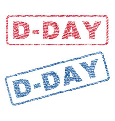 D-day textile stamps vector