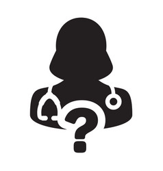 doctor icon female person profile avatar with vector image