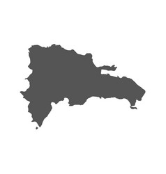 Dominican republic map black icon on white vector